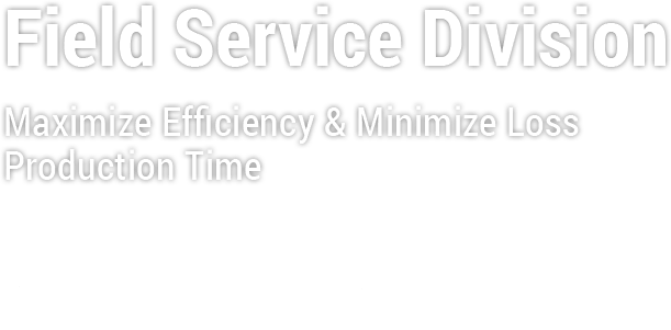Field Service division, Maximize Efficiency & Minimize Loss Production Time